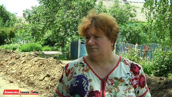 Людмила Попинчук, жительница с. Заря Труда.