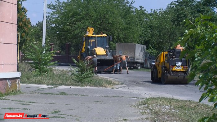У Сичавці ремонтують дороги.