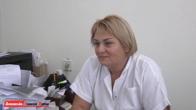 Ніна Деркач, завідувачка Сичавською амбулаторією, сімейний лікар.