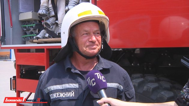 Володимир Юшков, старший караулу, пожежний МПК Визирки
