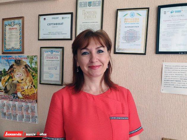 Наталія Кириченко, депутатка, членкиня постійної комісії з питань освіти Визирської сільради.