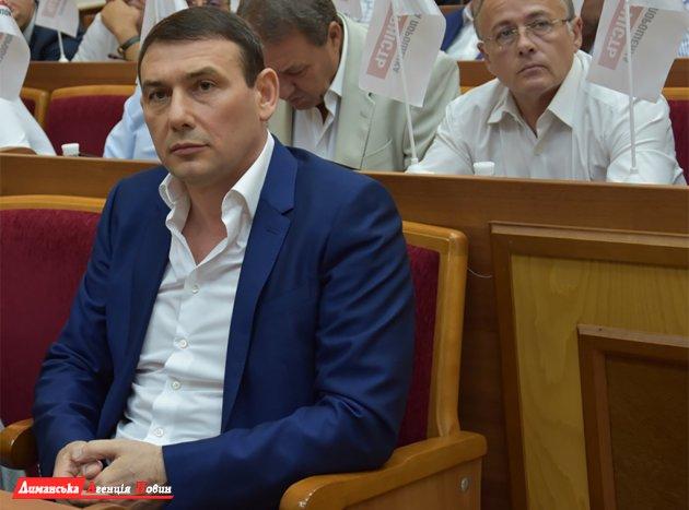 Новообраний голова Облради Сергій Паращенко.